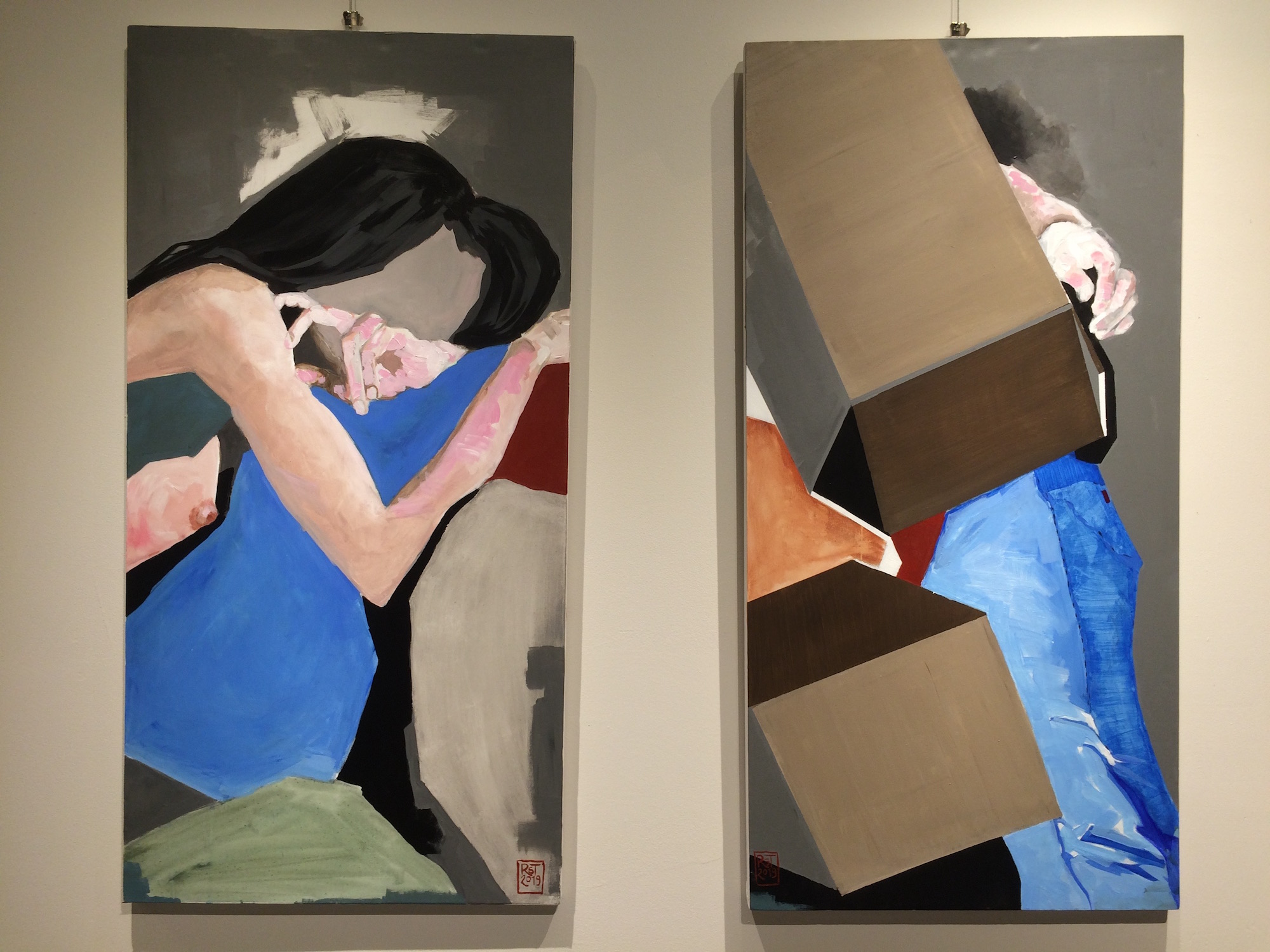 Inconsolable and Crushed (Diptych)